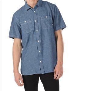 Vans bayview button down shirt medium NEW